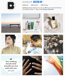 Birchbox Instagram feed -subscription box marketing