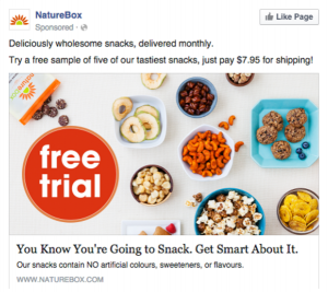 Subscription Box social media ad facebook